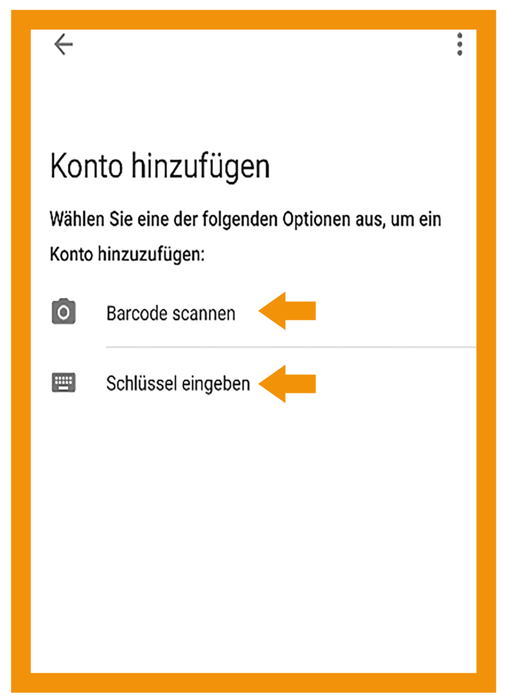 Android Google Authenticator Schritt 3