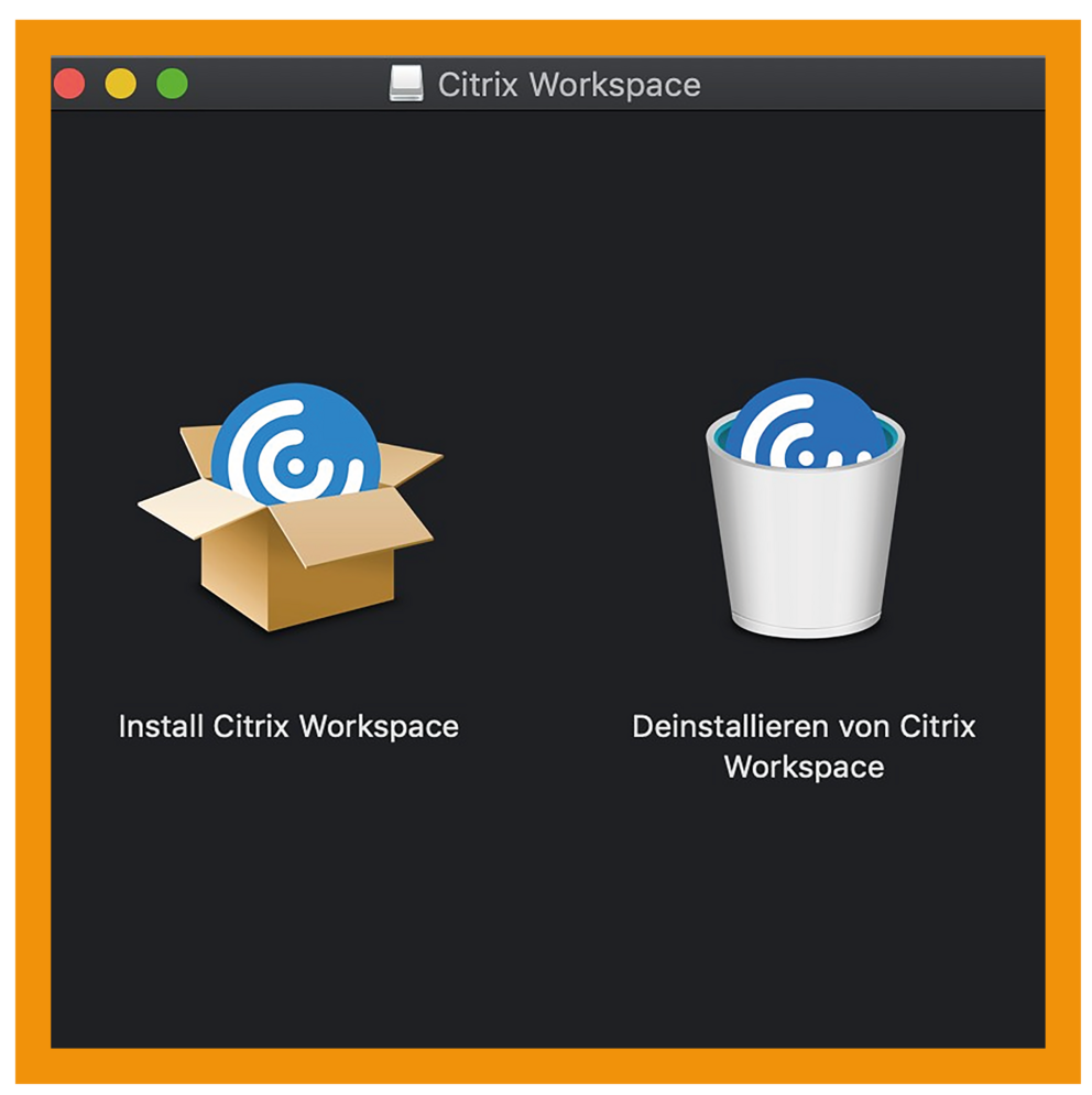 MacOS Citrix Workspace App Schritt 1