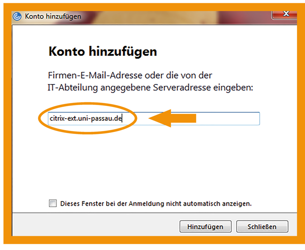 Windows Citrix Workspace App Schritt 3