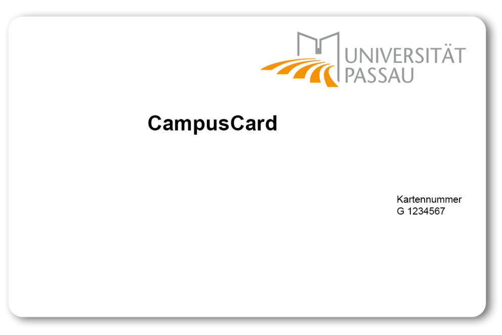 CampusCard for guests and as an alternative medium (front)